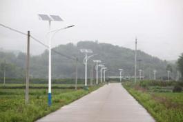 農村LED太陽能路燈頭工程示范——鴻星之光照明