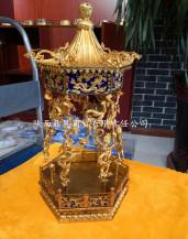 金銀器清宮舊藏銅鍍金松棚果罩