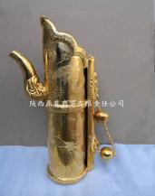 金銀器民國宣統銀鍍金龍鳳紋多穆壺