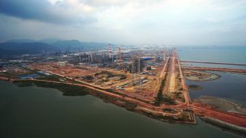 航拍惠州炼化厂