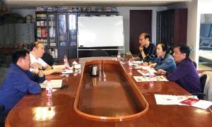 山西betvictor韦德1946文化发展有限公司应邀到四川伟德betvictor 苹果出版社洽谈合作
