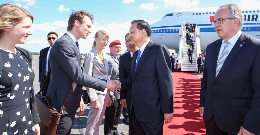 李克强总理对波兰进行正式友好访问