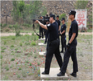 公司舉辦2017年度97-2防暴槍 應知應會培訓及實彈射擊考核
