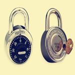 带钥匙旋转密码锁