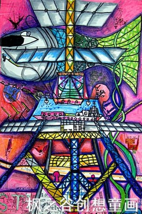 儿童科幻画——《海底奇境》李盛石 枫之谷创想童画 贾继红老师推荐