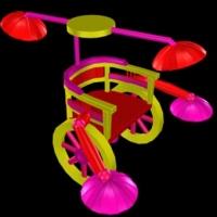《多功能除草器》  根据大连刘畅同学的创意画制作而成