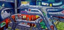 儿童创意画——《地下城市》刘宣廷男13岁忻州地区导师:张文