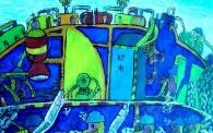儿童创意画——《采矿安全百分百》 陈建吉 男 12 宝鸡市店子街小学
