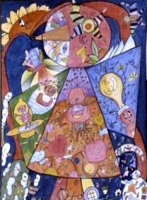 儿童科幻画——《爱与梦新生代飞行鸟》杨明珠 女 11岁 导师:黄婉雯