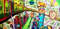 儿童创意画——《城市之旅》 张冬梅 女 13 南宁市江南区江西镇锦江小学
