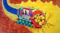 儿童创意画——《采矿大力士》 苏开斌 男 12岁 楚雄彝族自治州s 导师:曾淳