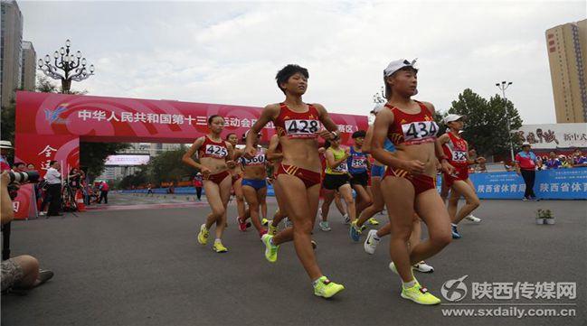 第十三届全运会田径项目渭南赛区首日比赛:陕西斩获3枚金牌