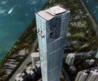 福建第一高楼纪录被刷新 电梯40秒就能直达楼顶