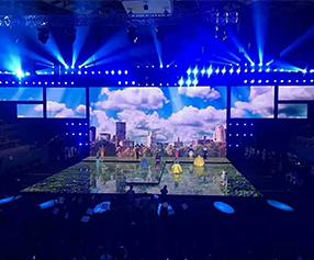 北京朝阳区年会舞台背景板设计搭建制作公司-专业的服务标准首选蓝色圣火