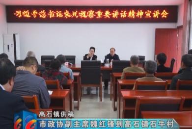 视频 | 市政协副主席魏红锋到高石镇石丰村宣讲总书记来川视察重要讲话精神
