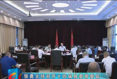 视频|张勇主持召开十四届县委常委会第97次会议