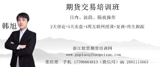 韩旭期货交易实战技术训练营(上海2018-10-16-26日)