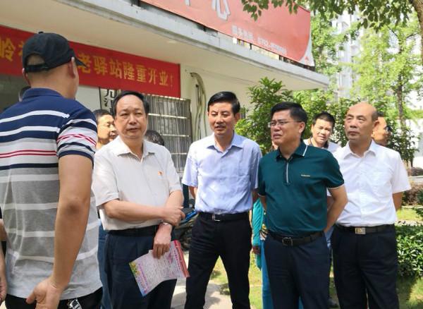 省民政厅厅长刘金接来濂溪区调研居家养老工作