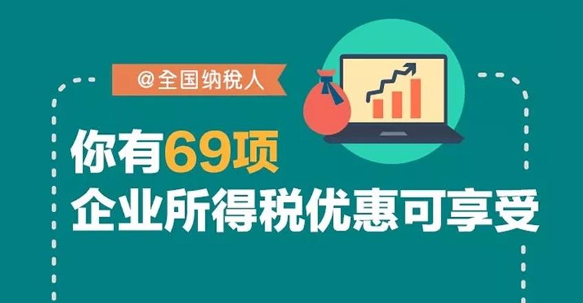 69项企业所得税优惠可享受