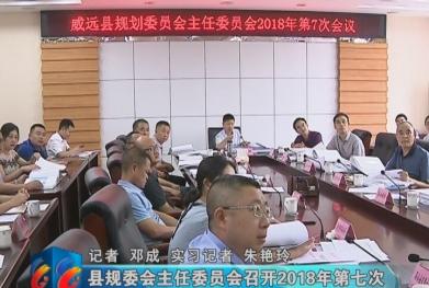 视频 县规委会主任委员会召开2018年第七次方案审查会