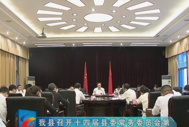 视频|我县召开十四届县委常务委员会第115次会议