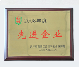 进步前辈企业证书