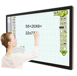 【电容触摸广告机】采用十点电容触摸屏超灵畅,外壳铝合金圆角工艺