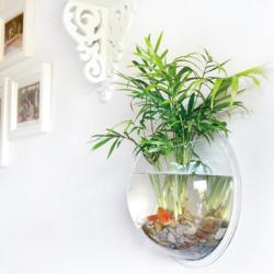 壁挂创意亚克力花瓶鱼缸