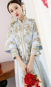 2018新款刺繡中式秀禾服