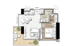 Del Mare 海景公寓1房B