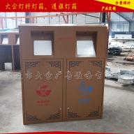 智能广告垃圾箱不锈钢太阳能广告回收箱厂家定制景区太阳能节能保洁箱生产