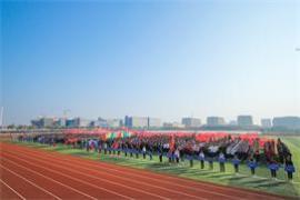 我校成功举办第二十届田径运动会