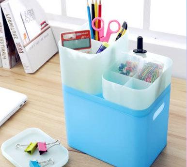 可叠加磨砂桌面收纳盒有盖化妆品首饰盒大号