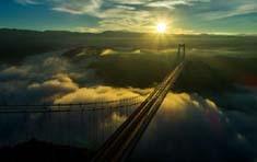 航拍云南龙江大桥