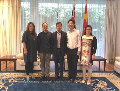 会长石军先生等拜访中国驻澳洲悉尼副总领事