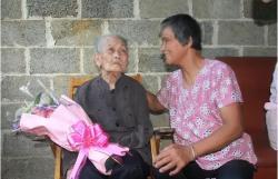 上林县镇圩乡龙贵村蓝吉爱118岁的长寿秘