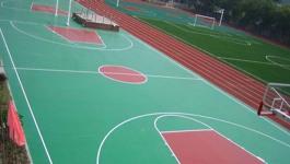 兰陵中学体育场地坪施工