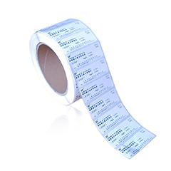 铜版纸 哑银/白色PET标签 彩色不干胶