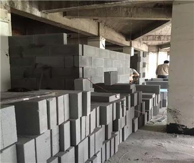 重庆泡沫砖:观音桥酒店加气砖隔墙