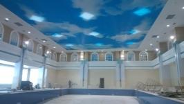 沈阳友谊宾馆游泳池软膜天花吊顶