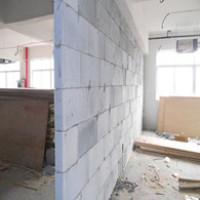 重庆加气砖:茶园KTV隔墙动工