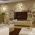 贝壳粉背景墙别具一格 让居室更具品味