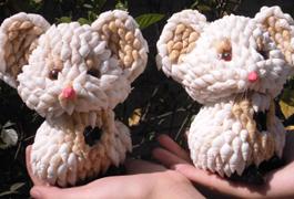 海螺贝壳工艺品生肖鼠 贝壳米老鼠 贝壳小