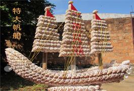 创意家居装饰摆件一帆风顺船 大帆船 地中