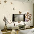 贝壳粉背景墙效果图,给你家居新体验!