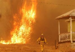 美国加州火山持续蔓延