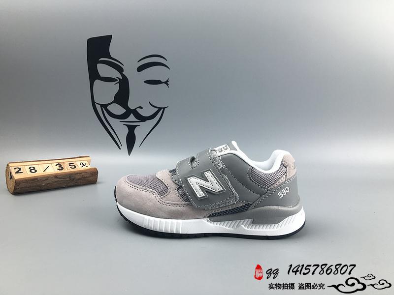 New Balance 530 猪八革运动复古童鞋 黄白 28-35