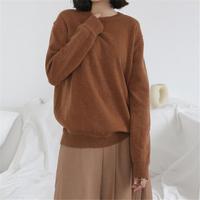 简约素色宽松羊毛针织
