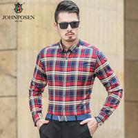 约翰普森休闲衬衫格子色织系列91111