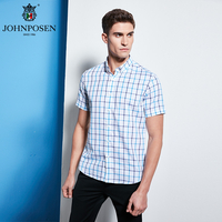 约翰普森短袖衬衫格纹色织系列18042